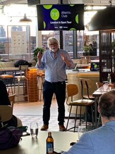 Peter Martin presenting at The Atlantic Club